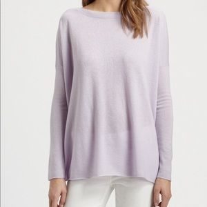 Vince Lilac Soft Cashmere Boatneck Sweater Size XS